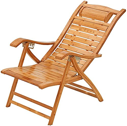 ZGYZ Adjustable Wooden Recliner,Foldable Lounger Chair,Garden Sun Lounger with Headrest,Balcony Leisure Armchair,with Removable Cushion,Family Practical Chair