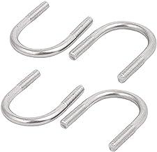 4 stuks U-bout bevestiger, M8 U-bouten, 304 roestvrij staal ronde U-bouten, roestvrij staal U-bout set voor 168mm pijp Dia...