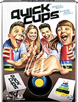 Quick Cups Match 'n' Stack Cup Stacking Family Game for Kids Aged 6 and up by Spin Master Games