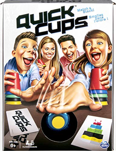 Quick Cups Match 'n' Stack Family Game for Kids Aged 6 and Up