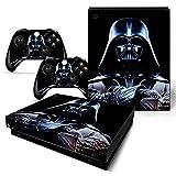 Pegatinas de vinilo para Xbox One X de Anime Star Wars para consola y controlador Xbox One X (2)