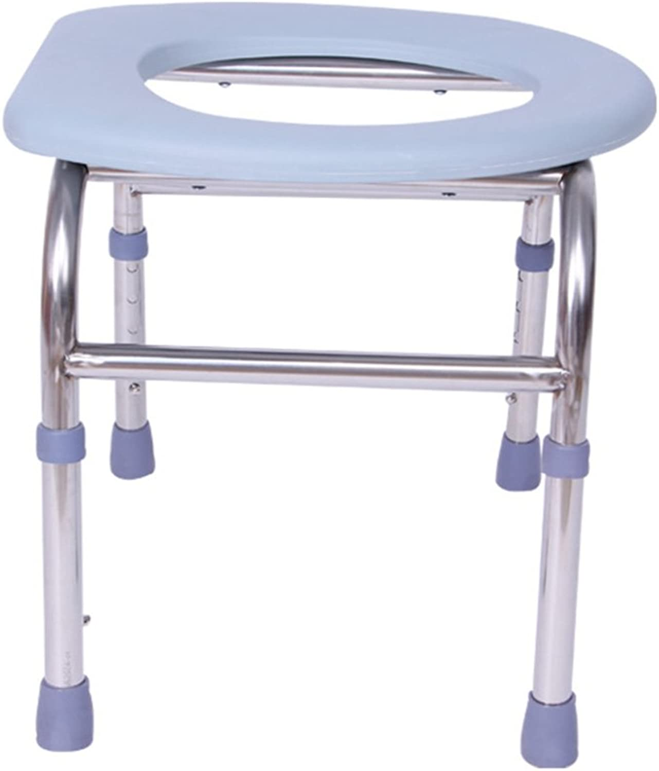 Shower Chair, Adjustable Stainless Steel Bathroom Old Man Pregnant Women Potty Chair Safety Portable