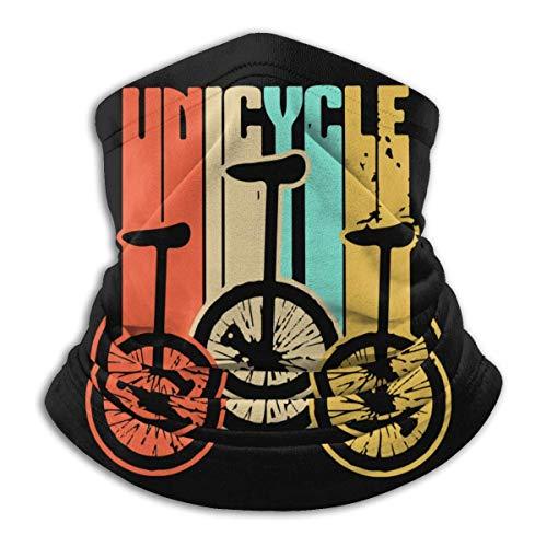 XXWKer Microfibre Chapeaux Tube Masque Visage Tour de Cou Cagoule, Unicycle Vintage Retro Men & Women Face Windproof Neck Bandana For Motorcycling