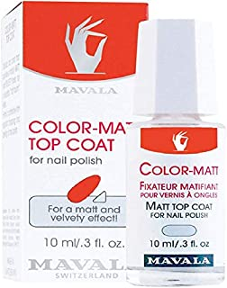 Mavala Set of 2 Color Matt Top Coat for Nail Polish 10ml (997.09)