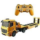 Grand véhicule d'ingénierie télécommandé 2.4GHz modèle camion à plat semi-remorque électrique tracteur RC camion de transport enfants charge jouet fan de voiture passionnés cadeau d'anniversaire de no