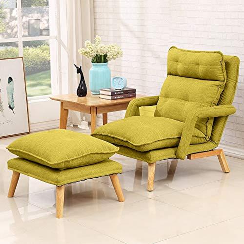 Hwt's Folding chair Fauteuil-canapé Pliant Multifonctions de Style Japonais pour Balcon Et Terrasse (Gris, Rose, Vert) (Couleur : Vert)
