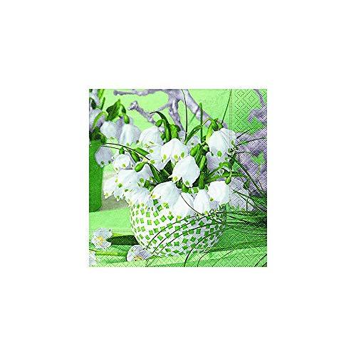 PAPER + DESIGN Spring Snowflakes Multicolour 20pc (S) Paper Napkin–Paper Servietten (Multicolour, Image, 330mm, 33cm, 20PC (S))