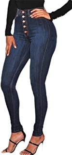 Women's Fashion Hight Waisted Butt Lift Jeans Stretchy Skinny Denim Pants