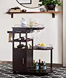 2L Lifestyle Sherwood Bar Entertainment Cart, Small, Espresso