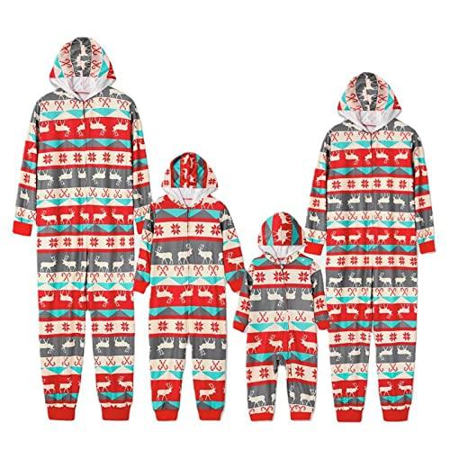 HUIJ Pijamas de Navidad para la Familia Monos - Ropa de Dormir Estampada de Navidad Mono para Padres - Nio Pijamas a Juego de la Familia Ropa para el hogar