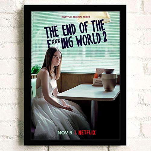 lubenwei The End of the F***ing World Movie HD Star Wall Art Home Decor Canvas Painting Art Nordic Decoration Room Poster 40x60cm No frame (WA-504)