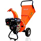 EFCUT C30 Mini Wood Chipper Shredder Mulcher, 7 HP 212cc Gasoline Engine, 3' Max Wood Diameter, 15:1 Waste Reduction Ratio, 2-Year Warranty After Product Registration - Ship from Amazon