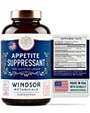 Appetite Suppressant for Weight Loss - Windsor Botanicals High-Potency Formula - Rapidly Absorbed, Natural Extracts - 60 Vegetarian Capsules