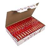 Jovi Caja de plastilina, 30 Pastillas 50 g, Color Rojo (7005), 350 gramos