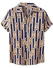 Hawaïhemd voor heren, korte mouwen, zomer, vrijetijdshemd, regular fit, shirt, T-shirt, strandhemd, basic shirt, grote maten, korte mouwen, T-shirt