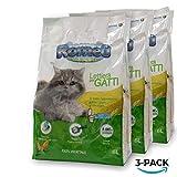 ROMEO Vegetal Ball, lettiera per gatti 18 litri sabbia gatto agglomerante, 100% vegetale mais bianco, lettiera gatto assorbe e neutralizza odori e liquidi, sabbia per gatti smaltibile nel Wc, organico