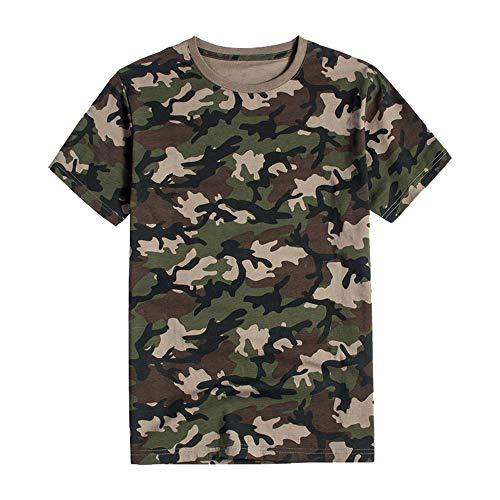 DISCOUNTL Camiseta de camuflaje Joker, Casual de los Hombres 4XL Ropa de Camuflaje Más el Tamaño de Algodón Puro de Manga Corta Camiseta de Jersey de Expansión Suelta al aire libre Camisa Suelta
