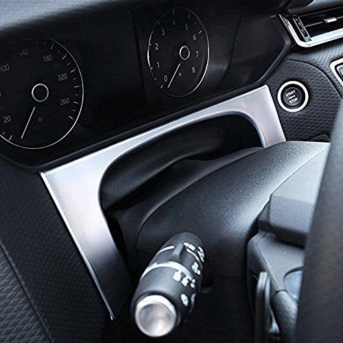 Cadre de décoration couleur argent mat pour tableau de bord, en plastique ABS, accessoire de voiture