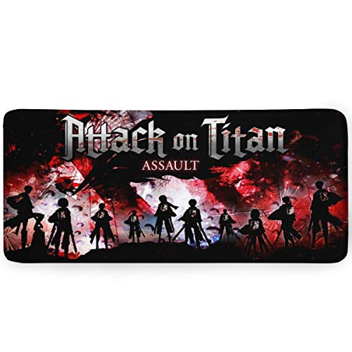 Attack on Titan Gaming Mouse Pad 15.8x35.5 in Multipurpose Comfortable Waterproof Mousepad Desk Mat for Gamer Office Home