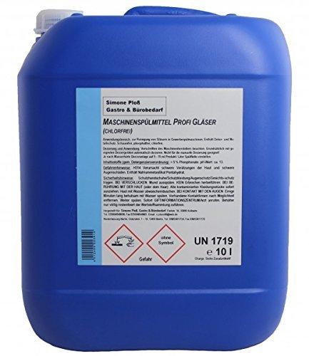 Maschinenspülmittel Profi Gläser 10L mit Chlor für gewerbliche Spülmaschinen