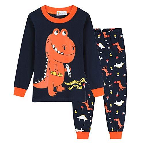Chickwin Junge Langarm Schlafanzug Zweiteiliger aus Baumwolle Kinder mit Cartoon...