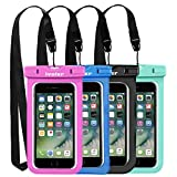 ivoler Waterproof Phone Pouch, [4 Pack] IPX8 Universal Waterproof Phone Case Underwater Dry Bag Phone Case 6.2 Inches for iPhone, Samsung Galaxy, Huawei, Asus, Nokia,LG, etc.