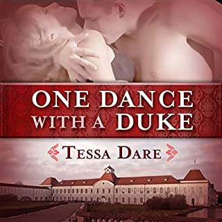One Dance with a Duke     The Stud Club Trilogy, Book 1              By:                                                                                                                                 Tessa Dare                               Narrated by:                                                                                                                                 Leslie Bellair                      Length: 11 hrs and 37 mins     977 ratings     Overall 4.0