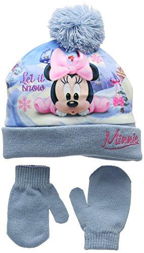 Minnie Mouse Let it Snow Bonnet, Bleu (Blue), 1 (Taille Fabricant: 48) Bébé Fille