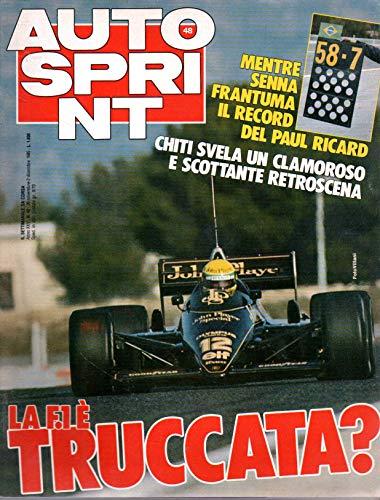 Autosprint 48 novembre-dicembre 1985 Mentre Senna frantuma il record del Paul Ricard