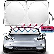 Auto safety The Original Windshield Sunshade Heat Shield for Tesla Model 3 Model Y 2018 2019 2020 2021 Foldable Sun Visor Protector Sun Shade Custom Fit