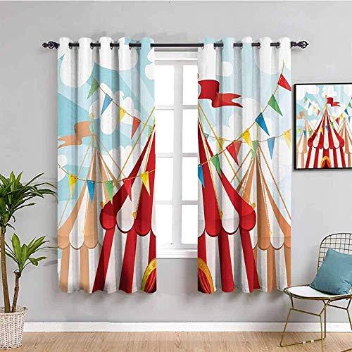 ZLYYH Cortinas Opacas de Dormitorio Cielo color triángulo carpa WxH:229x229cm(114x229cm x2 paneles) Paneles de cortina Cortinas de ventana con aislamiento térmico para dormitorio / sala de estar, cort