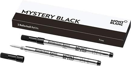 Montblanc Rollerball Refills (F) Mystery Black 105162 – Quick-Drying Pen Refills for Montblanc Rollerball and Fineliner Pens – 2 x Black Pen Cartridges