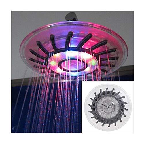 SerBlue Cabezal De Ducha con Luz LED, Cabeza Redonda De 6 Pulgadas con Cambio Automático De 7 Colores, Cabezal De Ducha con Rociador Superior