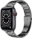 Miimall Cinturino di Metallo per Apple Watch 44mm 42mm Ultra Sottile Cinghia in Acciaio Inossidabile Compatibile con Apple Watch SE Serie 6 Serie 5 Serie 4 Serie 3 Serie 2 Serie 1 -G
