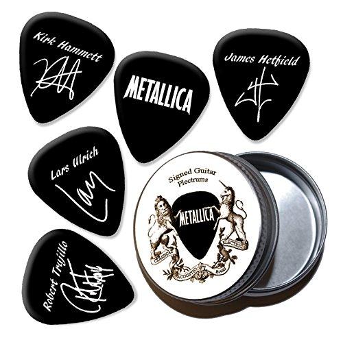 Metallica Black Gitarren-Plektren mit Zinn Tin (HB)