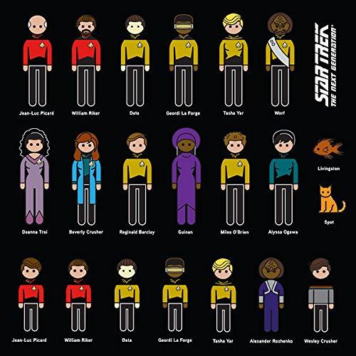 Star Trek The Next Generation Family Auto-Aufkleber