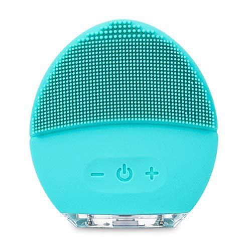 Limpiador Facial Eléctrico Cepillo De Limpieza Facial Y Dispositivo Para El Cuidado De La Piel Hecho Con Silicona Suave Para Cada Tipo De Piel, Rosa Perla, USB Recargable Blue