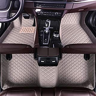 Muchkey car Floor Mats fit for Smart fortwo 2015-2019(Accelerator Hanging) Custom fit Luxury Leather All Weather Protection Floor Liners Full car Floor Mats