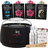 Waxing Kit Wax Warmer Hair Removal with Hard Wax Beans. KoluaWax Multiple Formulas Target Different Type of Hair, Eyebrow, Facial, Armpit, Bikini, Brazilian,for Women and Men. 20 Applicators for Home