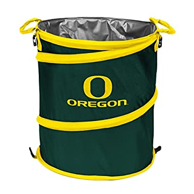 Logo Brands NCAA Oregon Ducks Collapsible 3-in-1 Trash Can, Adult, Green