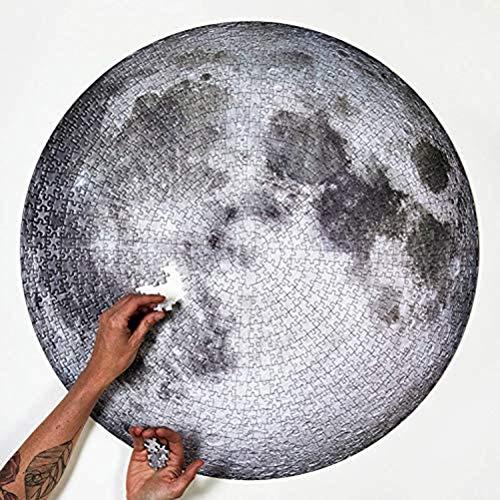Oulian Rompecabezas Redondo para Adultos1000 Piezas - Luna Planet Puzzle- Space Planet Difícil Rompecabezas Juguetes Brain Challenge Puzzle Descompresión Juguete para Niños (67.6X67.6 cm)