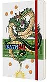Moleskine, Cuaderno Dragon Ball, Tema Dragón, Edición Limitada, Hojas de Rayas, Tapa Dura con Gráficos, Tamaño Grande 13 x 21 cm, Color Blanco, 240 Páginas