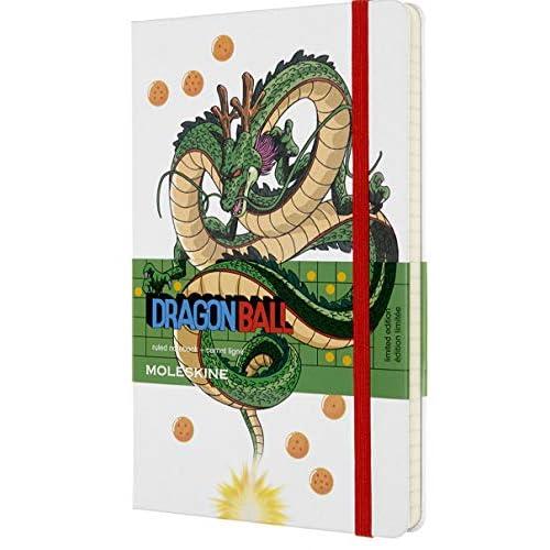 Moleskine Dragonball Taccuino in Edizione Limitata, Notebook a Righe Drago, Copertina Rigida con Grafica e Dettagli a Tema, Formato Large 13 x 21 cm, Bianco, 240 Pagine