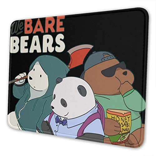 Dxddsdks Cool We Bare Bears 7 x 8.6 in Gaming Mouse pad Computer Non-Slip Rubber Base Mouse pad Notebook Computer Desk Accessories
