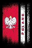 Polen Notizbuch: A5 / 6x9  / Kalender / Taschenbuch / Notizbuch mit 120 karierten Seiten / Polen / Flagge