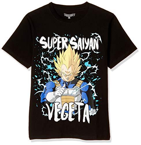 [ドラゴンボールゼット] Tシャツ ドラゴンボール スーパーサイヤ人 ベジータ 半袖 ブラック 日本 S (日本サイズS相当)