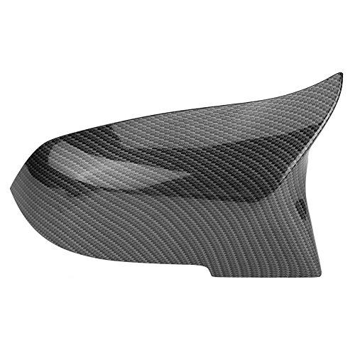 Akozon 1 Paar Außenspiegelsets Ersatzteile Chrome Galvanik Autoseite Heckspiegel Gehäusedeckel Rückspiegel Abdeckkappe für 220i 328i 420i F20 F21 F22 F30 F32 F33 F36 X1 E84 (Links & Rechts)