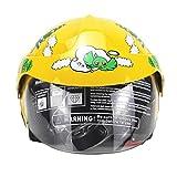 juman634 Casco para niños Motocicleta Cuatro Estaciones Personalidad Batería Coche Hombres y Mujeres Bebé Casco de Seguridad Infantil Otoño e Invierno