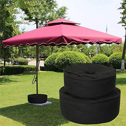æ— Bolsa de peso redonda desmontable con base de paraguas, para cualquier soporte de sombrilla de patio al aire libre con capacidad para reemplazar la bolsa de arena fea, color negro