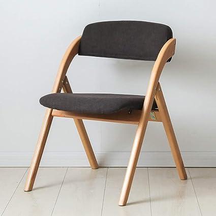 Wenhui Folding Chairs Dining Table Chair Simple Stylish Wood Dining Room Chair Modern Comfortable Backrest Home Folding Desk Chair Folding Chairs Amazon De Kuche Haushalt
